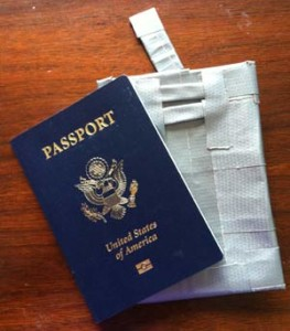 Duct tape and aluminum foil passport case